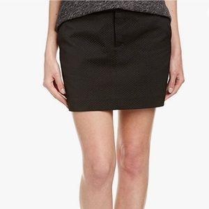 Zadig & Voltaire Black Button Front Mini Skirt